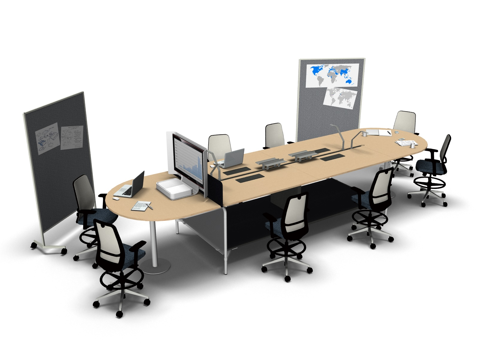 Standing and Sitting Collaboration Conference Table